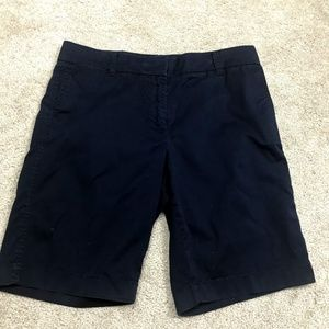 J Crew Chino Blue Bermuda Shorts Size 6